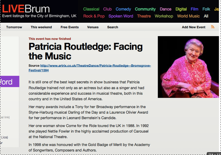 Patricia Routledge 15.07.07